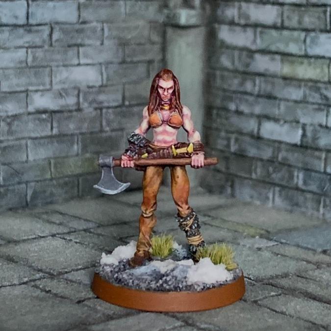 北方の女戦士/両手斧